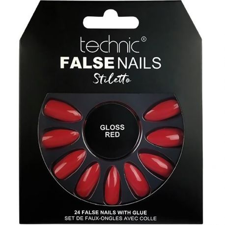 technic - Faux ongles Stiletto - Gloss Red