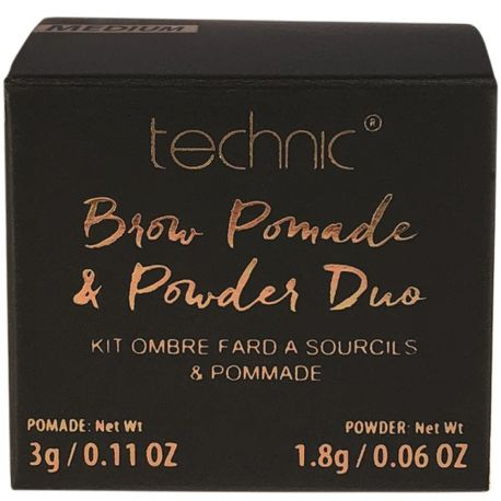 technic - Kit ombre à fard à sourcils & pommade - Medium - 3g