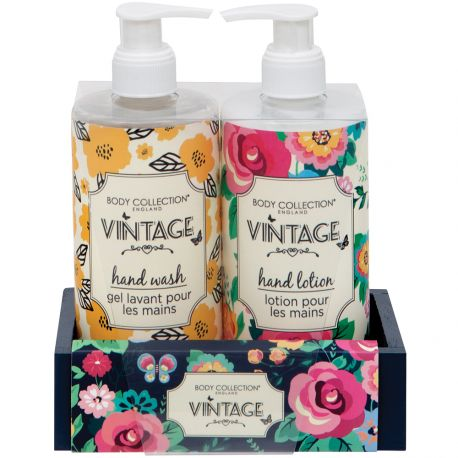 Body Collection - Vintage - Coffret soins des Mains - 2x360ml
