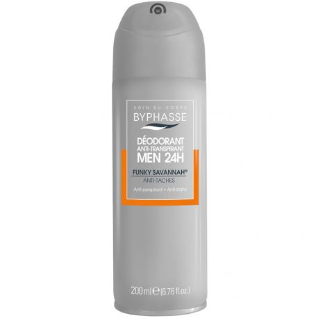 Byphasse - Dépdorant spray homme Funky Savannah Anti-tâches - 200ml