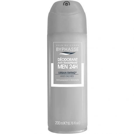 Byphasse - Déodorant spray homme Urban Swing Anti-tâches - 200ml