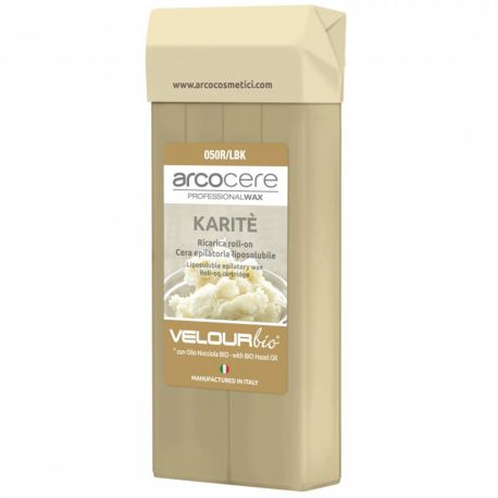 arcocere - Velour bio Cire Roll on Karité - 100ml