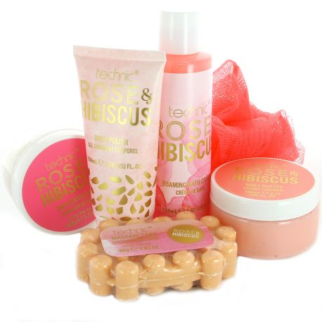 Technic - Coffret Rose & Hibiscus Set Bain - 6pcs