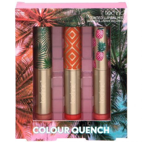 technic - Coffret baumes Lèvres Colour Quench - 3pcs
