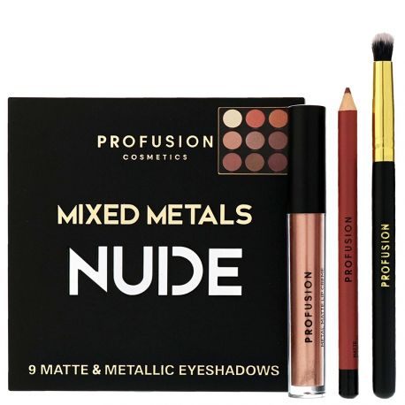 Profusion - Coffret Mixed Metals Eyes & Lips NUDE - 4pcs