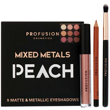 Profusion - Coffret Mixed Metals Eyes & Lips PEACH - 4pcs