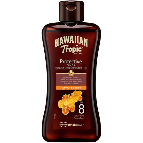 Hawaiin - Huile sèche coconut & papaya protective SPF8 - 100ml