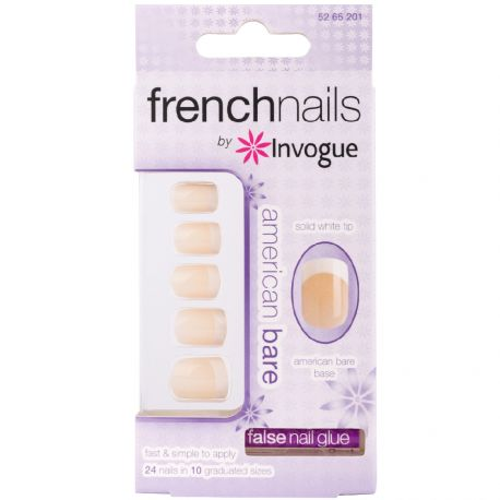 Invogue - French american bare 24 Faux ongles + 1 colle