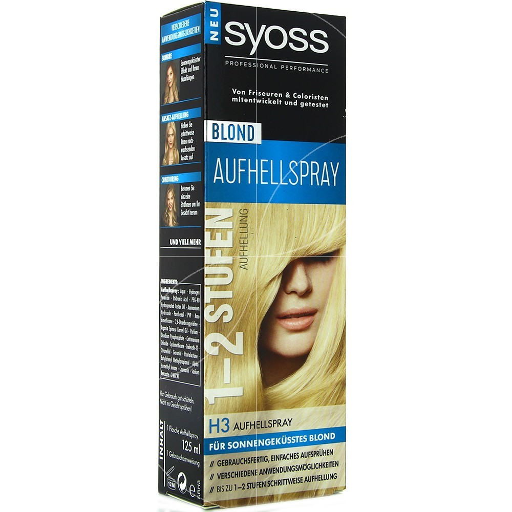 Syoss - Spray pour cheveux H3 Eclaircissant - 125ml