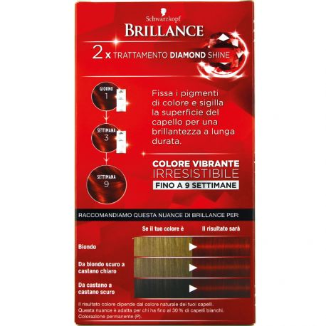 Schwarzkopf - Coloration Brillance 868 Rouge intense
