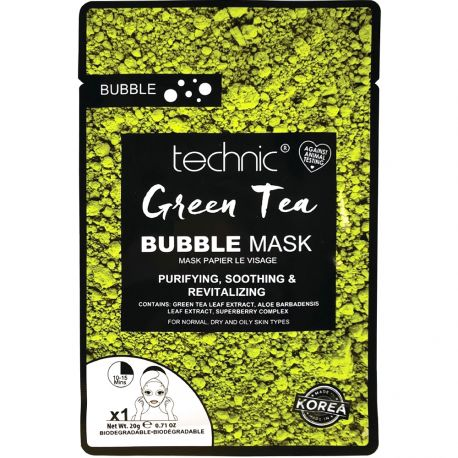 technic - Masque Green Tea purifiant apaisant & revitalisant - 20g