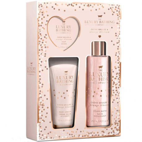 Grace cole - Luxury Bathing - Coffret corps & Bain crème brulée orange blossom - 3pcs