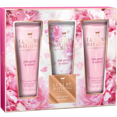 Grace cole - Luxury Bathing - Coffret soins Pink Peony & Vetiver - 3pcs