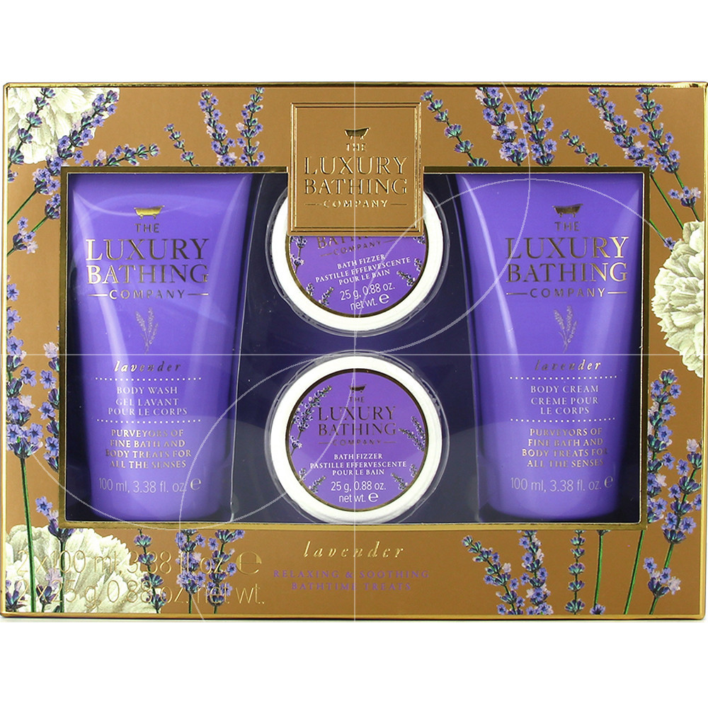 Grace cole - Luxury bathing - Coffret soins relaxation Lavande - 4pcs