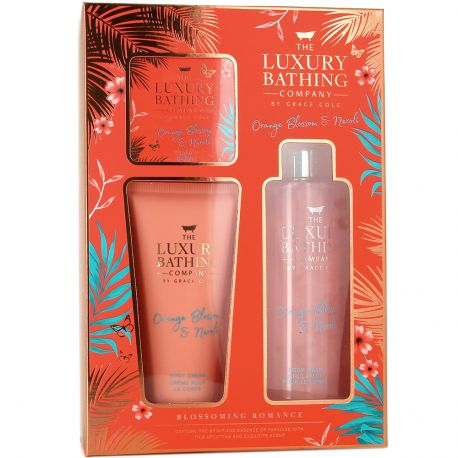 Grace Cole - Luxury Bathing - Coffret corps & Bain Blossoming Romance - 3pcs