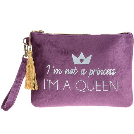 "Atout Beauté - Trousse ""I'm not a princess I'M A QUEEN"""