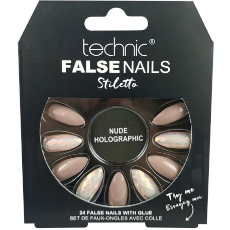 technic - Faux ongles Stiletto - Nude Holographic