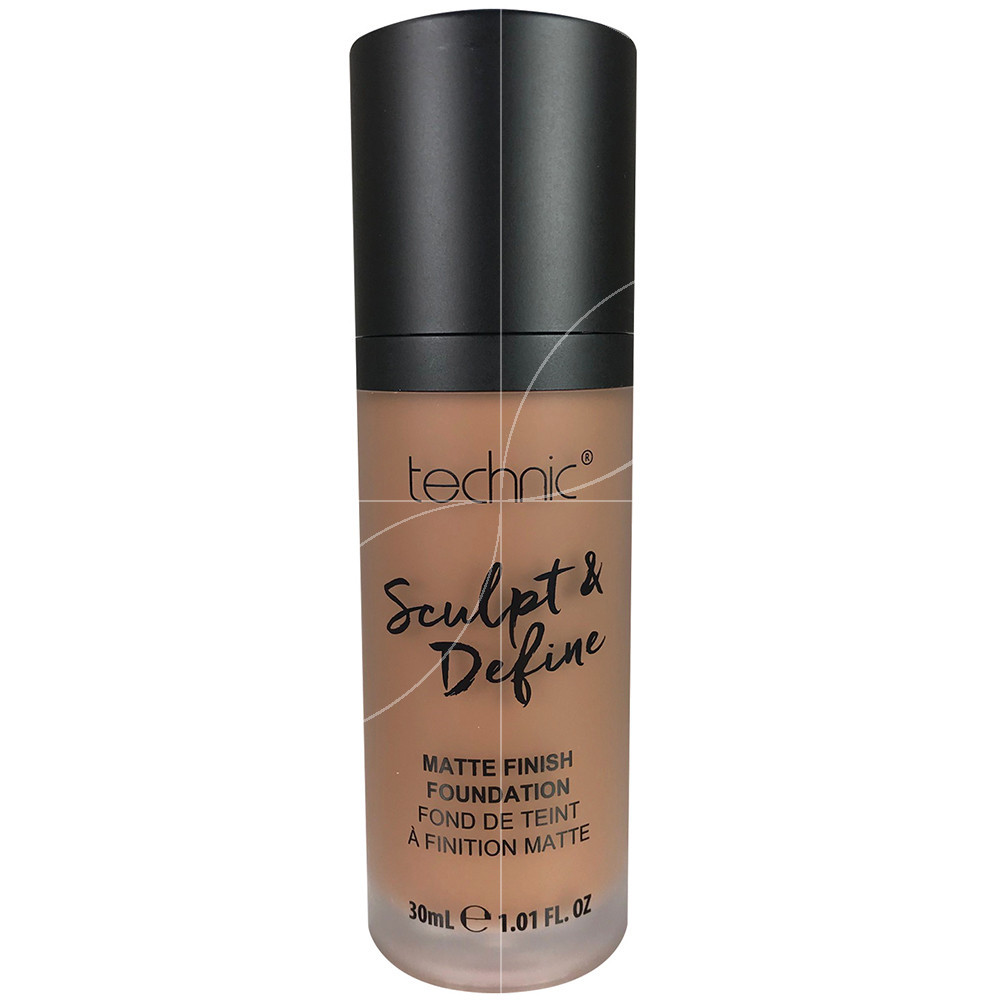 technic - Fond de teint Sculpt & Define a finition matte Chestnut - 30ml