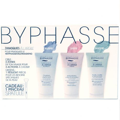 Byphasse - Pack de 3 Masques à l'argile - 3x50ml