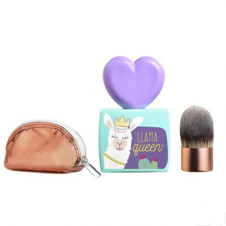 Air-Val - Coffret Llama Queen eau de toilette kit maquillage - 3pcs