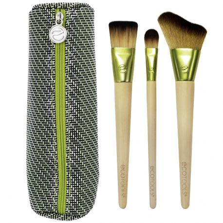 Ecotools - Travel and glow Kit 3 pinceaux Teint et Trousse