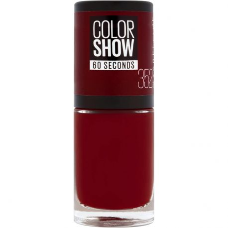 Maybelline - Color show Vernis à ongles n°352 Downtown Red - 7ml