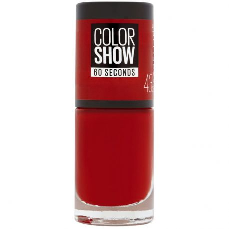 Maybelline - Color show Vernis à ongles n°43 Red Apple - 7ml
