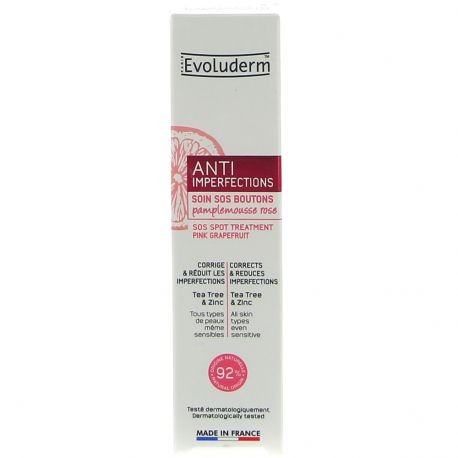 Evoluderm - Soin anti-imperfections SOS Boutons - 15ml