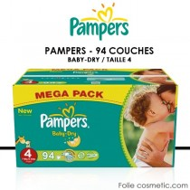 PAMPERS - BABY DRY - 94 Couches - Taille 4