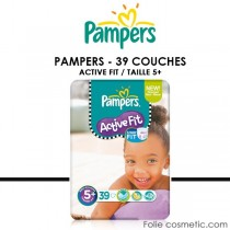 PAMPERS - ACTIVE FIT - 39 Couches - Taille 5+