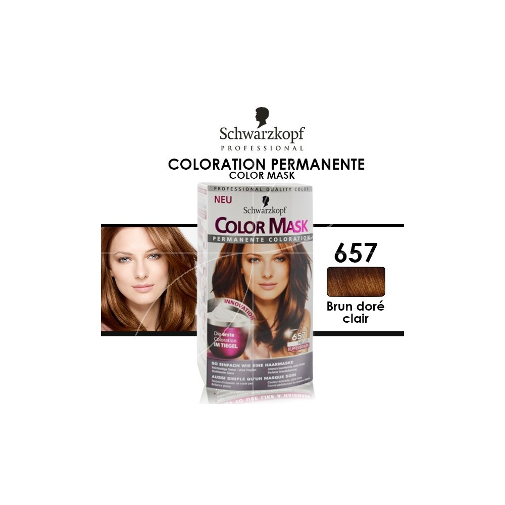 schwarzkopf coloration permanente color mask 657 chtain clair cuivr loading zoom - Coloration Semi Permanente Schwarzkopf