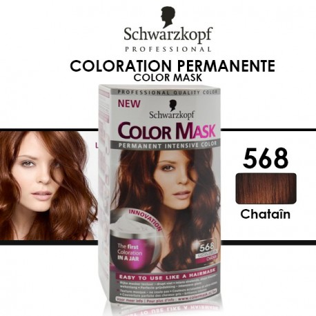 Schwarzkopf - Coloration Permanente Color Mask - 568 Châtain