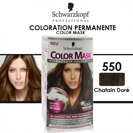 Schwarzkopf - Coloration Permanente Color Mask - 550 Châtain Doré